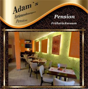 Ein Restaurant oder anderes Speiselokal in der Unterkunft Adams Pension und Ferienwohnungen