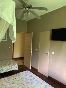 Télévision ou salle de divertissement dans l'établissement Matilona