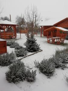 Levendula Vendégház during the winter
