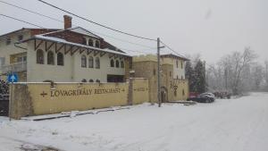 Szt László Lovagkirály during the winter