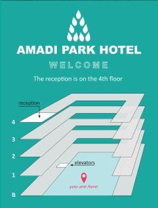 De plattegrond van Amadi Park Hotel