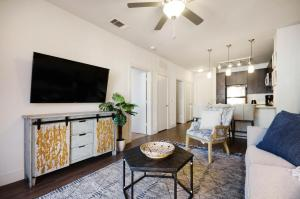 A television and/or entertainment center at Bell Knox Apartments