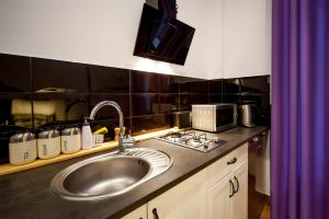 A kitchen or kitchenette at Very Berry - Garbary 27 - Apartament z balkonem, Old City, check in 24h