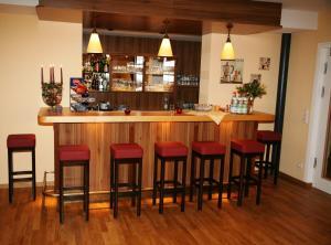 Lounge oder Bar in der Unterkunft Thermenhotel Ströbinger Hof