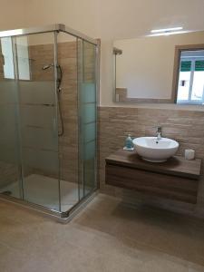 A bathroom at B&B da Caddalina
