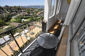 A balcony or terrace at Neutral Bay Self Contained Studio Apartments