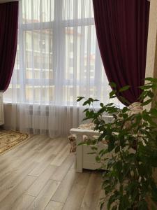 A seating area at Апартаменты на море