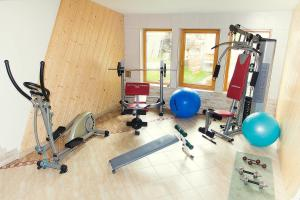 The fitness center and/or fitness facilities at Penzion u Veselých