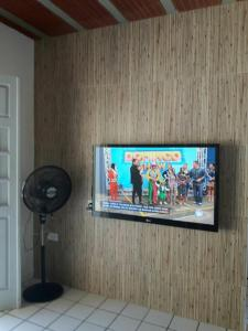A television and/or entertainment center at ilha de itamaraca pernambuco