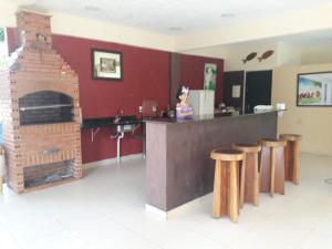 The lobby or reception area at Chacara Santa Barbara