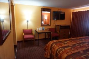 A television and/or entertainment center at RELAX INN
