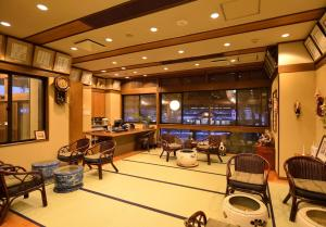 A restaurant or other place to eat at Nakamatsuya Ryokan