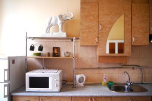 A kitchen or kitchenette at Apartment on Svobody Avenue