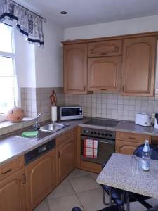 Küche/Küchenzeile in der Unterkunft Ferienwohnung Czampiel