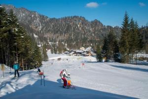 Skifahren im Privatzimmer oder in der Nähe