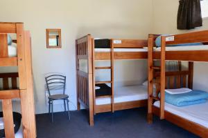 A bunk bed or bunk beds in a room at Lakefront Lodge Backpackers