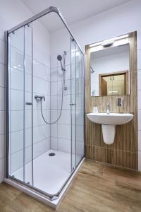 Koupelna v ubytování Penzion U Zámku