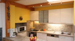 Küche/Küchenzeile in der Unterkunft Lärchenwald Appartements