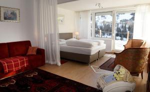 Ein Bett oder Betten in einem Zimmer der Unterkunft Haus Hoffmann