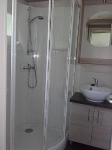 A bathroom at Camping Deva