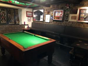 A billiards table at The Crosskeys Inn