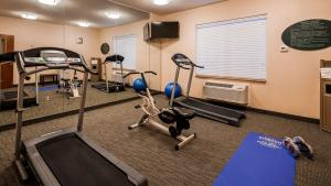 The fitness center and/or fitness facilities at Best Western Jacksonville Inn