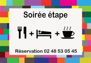 The floor plan of Hotel Restaurant La Mire