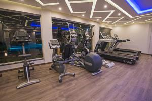 The fitness center and/or fitness facilities at Royal Tulip Beach Resort