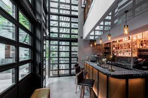 The lounge or bar area at Ovolo Central