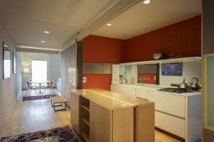 A kitchen or kitchenette at Hotel Verona
