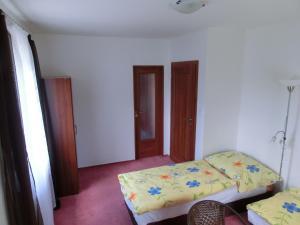 Łóżko lub łóżka w pokoju w obiekcie Vila Evička