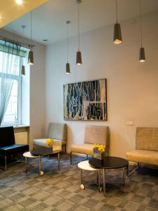A seating area at Elizabete Design Hotel