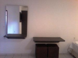 Uma TV ou centro de entretenimento em Termas Park Hotel