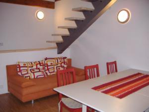 Posezení v ubytování Apartmány Nové Hutě