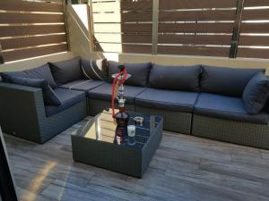 A seating area at Villa Can Nieves