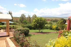 A garden outside TanzanIce Farm Lodge