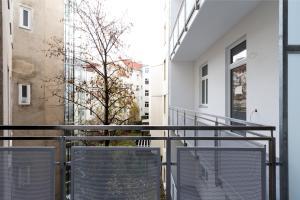 Balkón nebo terasa v ubytování Gemütliche Wohnung mit Terrasse im Zentrum