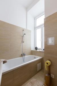 Koupelna v ubytování Gemütliche Wohnung mit Terrasse im Zentrum