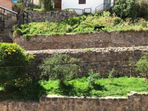 Jardín al aire libre en Namaste House