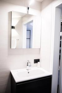 Een badkamer bij Hotel Carnac