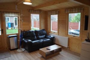 A seating area at The Cabin Stretford