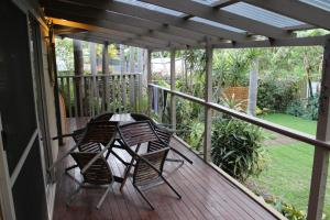 A balcony or terrace at Hidden Oasis Pet Friendly In Anna Bay