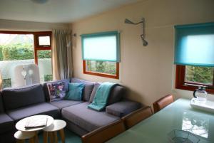 Ein Sitzbereich in der Unterkunft Haantjes Vakantiepark