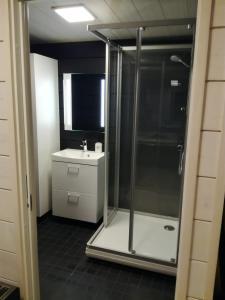 A bathroom at Hotel Ukkohalla