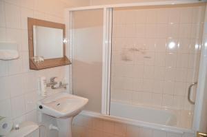 Koupelna v ubytování Hotel Labuť