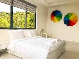 A bed or beds in a room at Friends Gay House - hotel, club, sauna