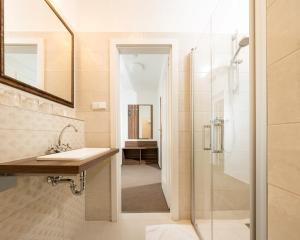 A bathroom at Hotel Praha