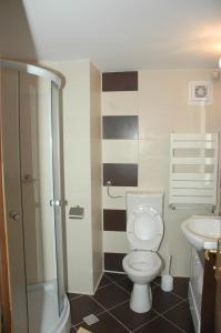 A bathroom at Hotel Dambovita