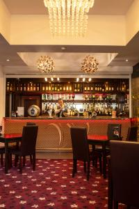 The lounge or bar area at Wessex Hotel