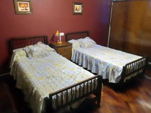 A bed or beds in a room at La casa de Aya